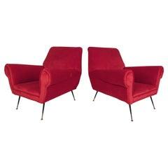 Pair of Mid-Century Modern Italian Lounge Chairs