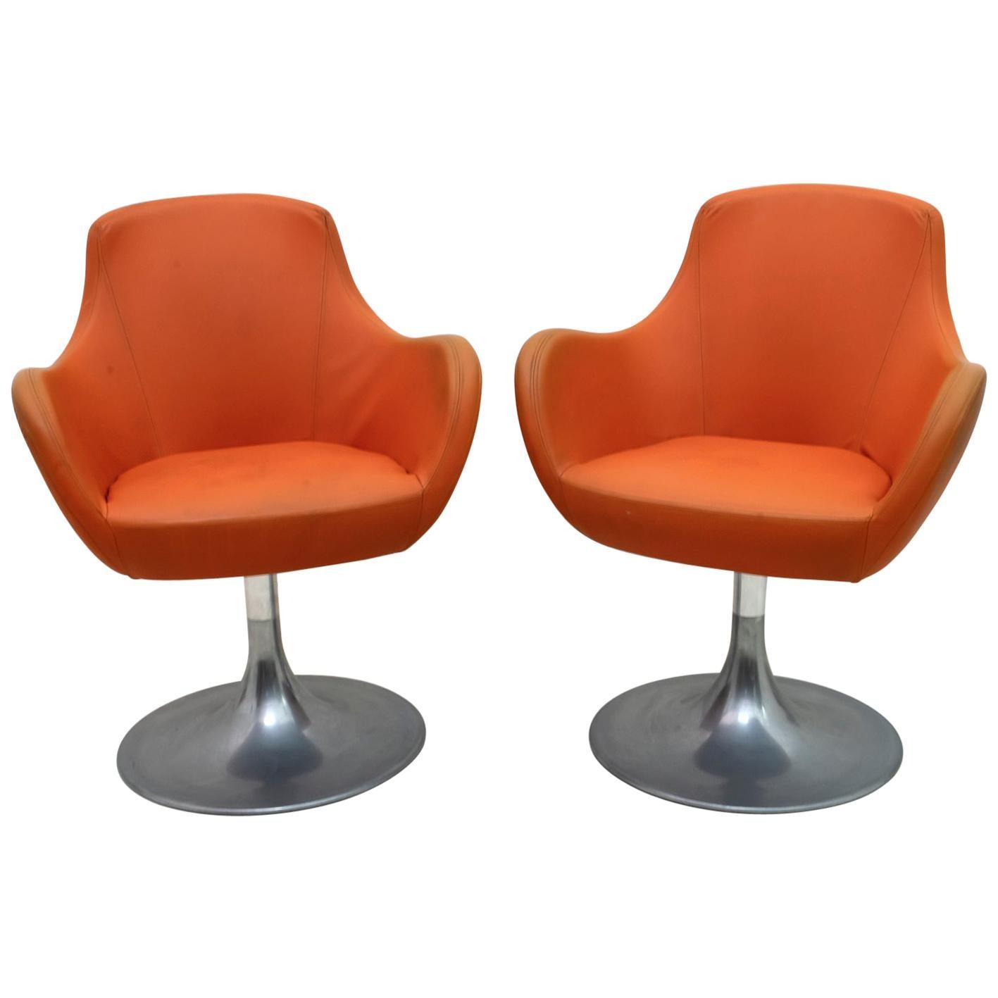 Pair of Mid-Century Modern Italian Swivel Armchairs, 1960s