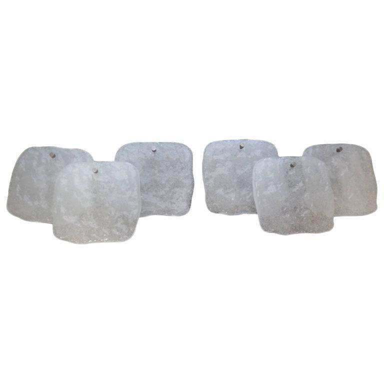 Pair of Mid-Century Modern Kalmar Glass Sconces For Sale 2