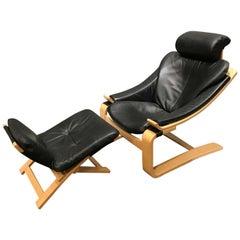 Pair of Mid-Century Modern, Kroken Lounge Chairs