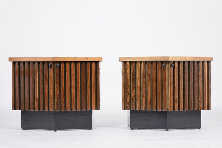 American Pair of Midcentury Lacquered Nightstands