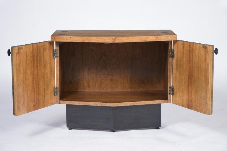 Wood Pair of Midcentury Lacquered Nightstands