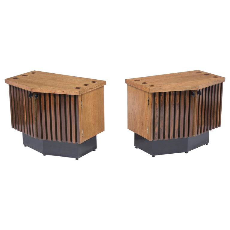 Pair of Midcentury Lacquered Nightstands