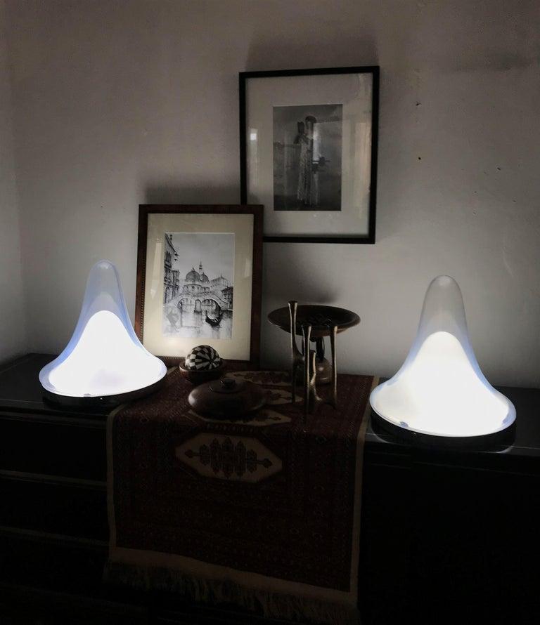 Italian Pair of Mid-Century Modern Lamp by Carlo Nason, Mazzega, Murano Glass For Sale