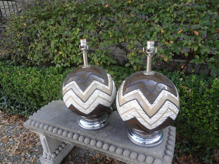 Pair of Mid-Century Modern Lamps For Sale 1