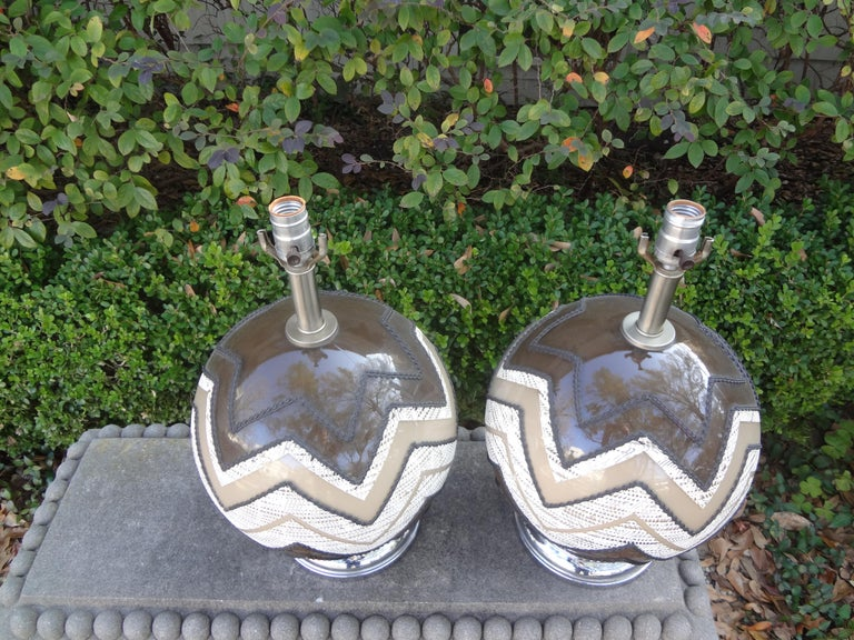 Pair of Mid-Century Modern Lamps For Sale 2