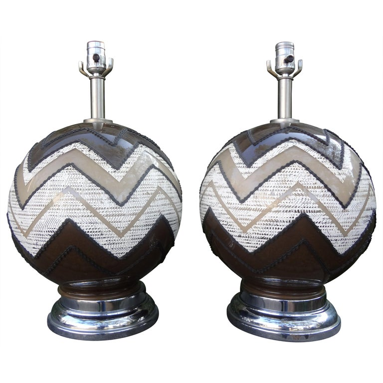 Pair of Mid-Century Modern Lamps For Sale