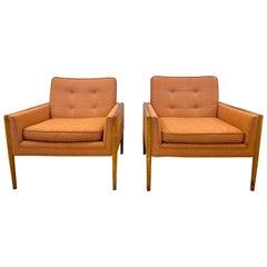 Pair of Mid-Century Modern Lounge Chairs, American, Walnut, 1960s