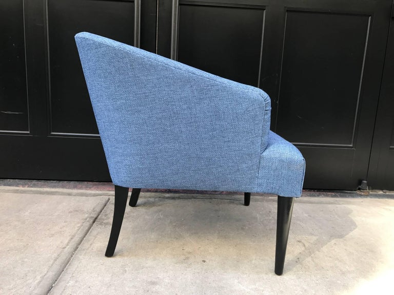 Lacquered Pair of Mid-Century Modern Lounge Chairs For Sale