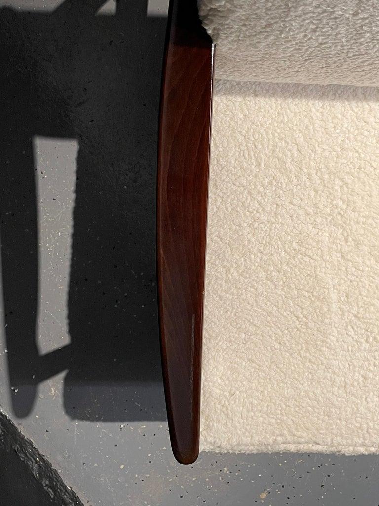 Pair of Mid-Century Modern Lounge Chairs Style of Ib Kofod-Larsen Plush Sherpa 2