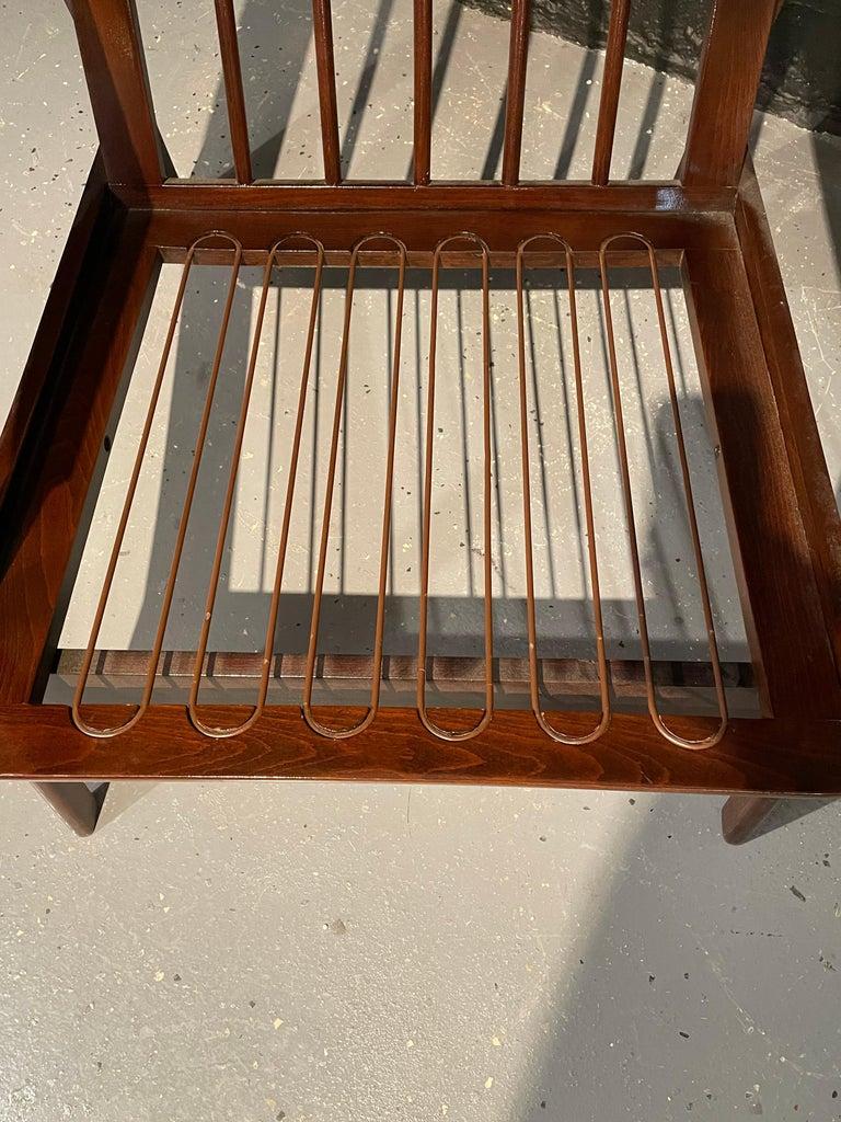 Pair of Mid-Century Modern Lounge Chairs Style of Ib Kofod-Larsen Plush Sherpa 3