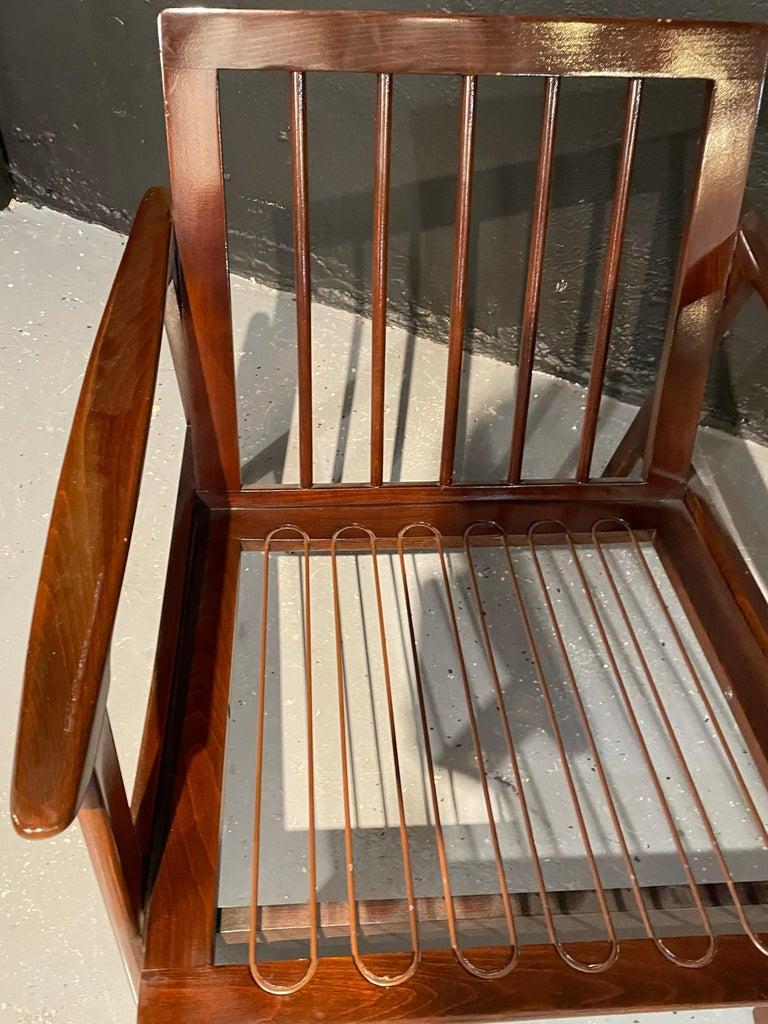 Pair of Mid-Century Modern Lounge Chairs Style of Ib Kofod-Larsen Plush Sherpa 4