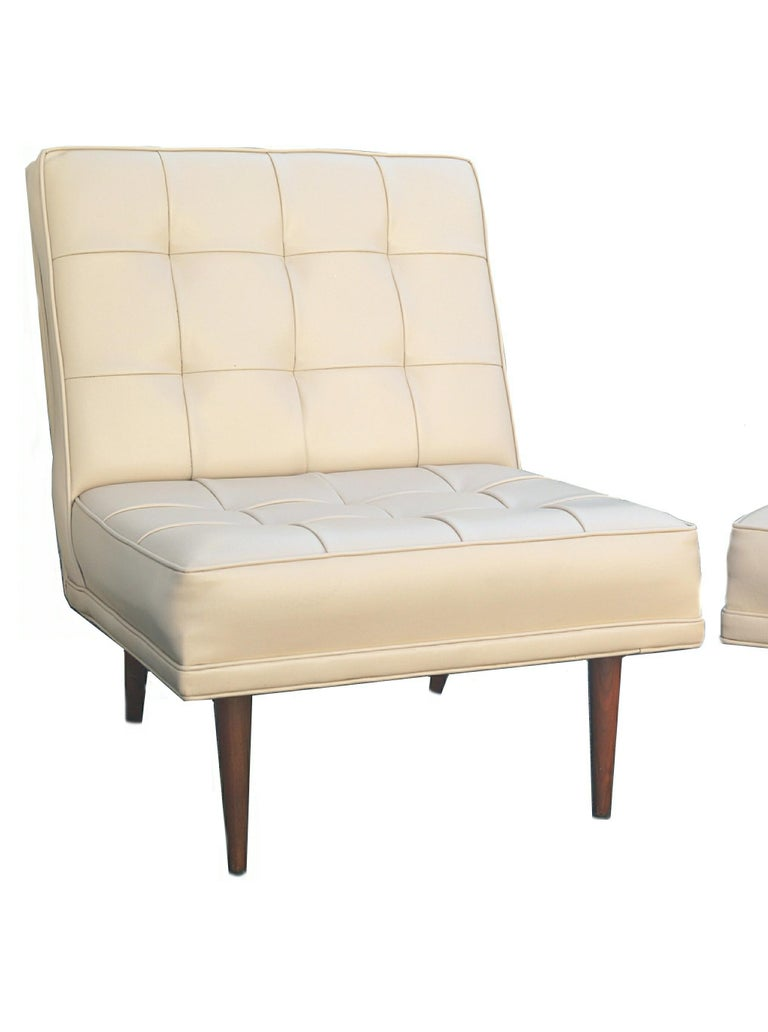 Other Pair of Mid-Century Modern Lounge Slipper Chairs Manner of Paul McCobb For Sale