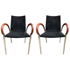 Pair of Mid-Century Modern Made in Italy Dining Chairs