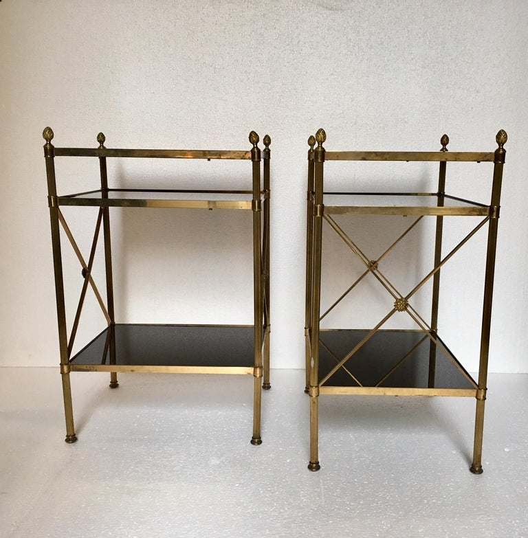 Pair of Mid-Century Modern Maison Jansen Style Side Tables For Sale 2