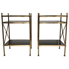 Pair of Mid-Century Modern Maison Jansen Style Side Tables