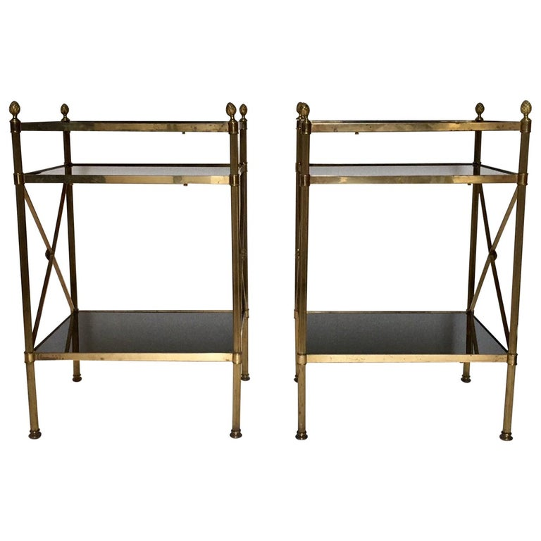 Pair of Mid-Century Modern Maison Jansen Style Side Tables For Sale
