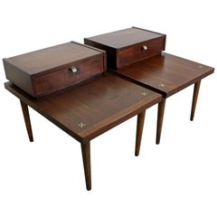 Pair of Mid-Century Modern Merton Gershun American of Martinsville End Tables