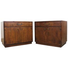 Pair of Mid-Century Modern Milo Baughman Style Founders Nightstands