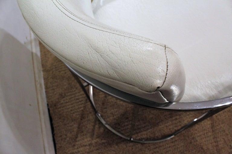 Pair of Mid-Century Modern Milo Baughman Thayer Coggin Chrome Lounge Chairs For Sale 1