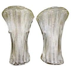 Pair of Mid-Century Modern Murano Glass Sconces