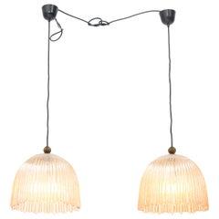 Pair of Mid-Century Modern Murano Pendant Lights, 1960s