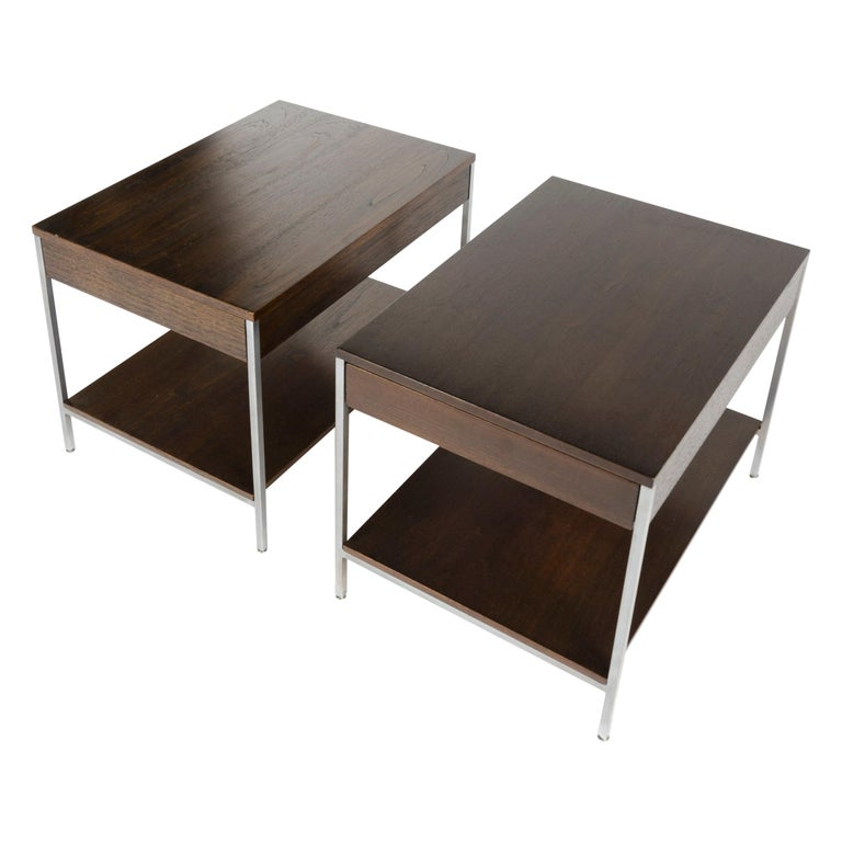 1950s Pair of Mid-Century Modern Nightstands by George Nelson for Herman Miller For Sale