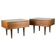 Mid Century Modern Nightstands in Walnut by Mel Smilow