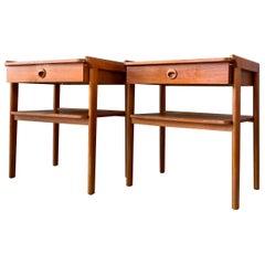 Pair of Mid-Century Modern Nightstands Made of Teak