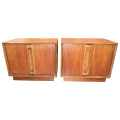 Pair of Mid-Century Modern Nightstands or End Tables by Lane