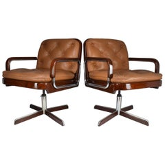 Pair of Mid-Century Modern Office Chairs by AG Barcelona, 1970s