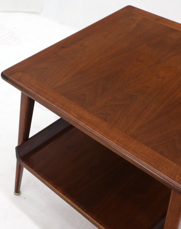 Pair of Mid-Century Modern Oiled Walnut End Side Tables  For Sale 8