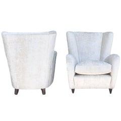 Pair of Mid-Century Modern Paolo Buffa Lounge Armchairs