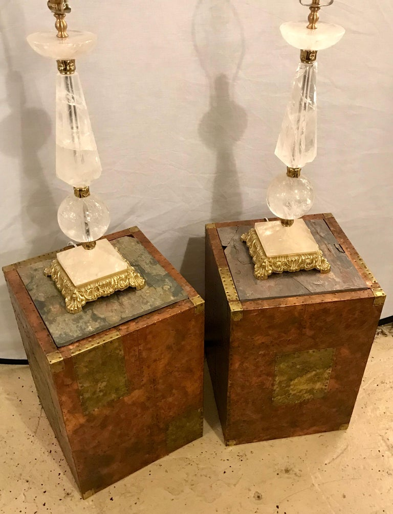 Pair of Mid-Century Modern Paul Evans Inspired End Tables or Pedestals For Sale 7