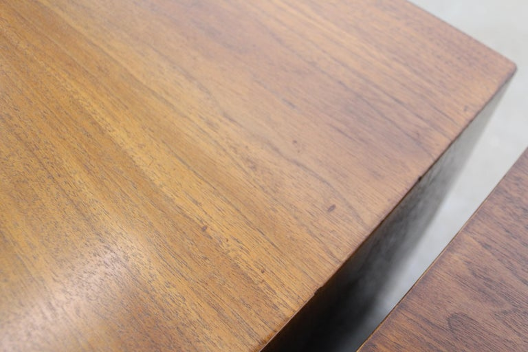 Pair of Mid-Century Modern Paul Frankl Johnson 'Emissary' Curved Nightstands For Sale 4