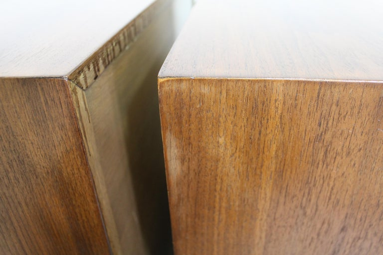 Pair of Mid-Century Modern Paul Frankl Johnson 'Emissary' Curved Nightstands For Sale 8