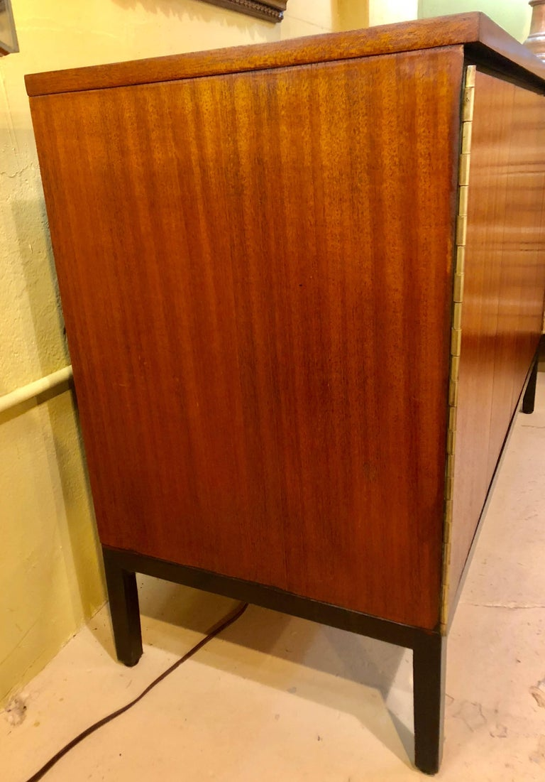 Mid-20th Century Pair of Mid-Century Modern Paul McCobb for Calvin Chests or Nightstands Ebonized