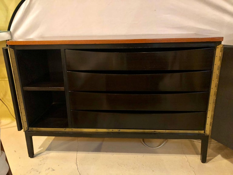 Pair of Mid-Century Modern Paul McCobb for Calvin Chests or Nightstands Ebonized 2