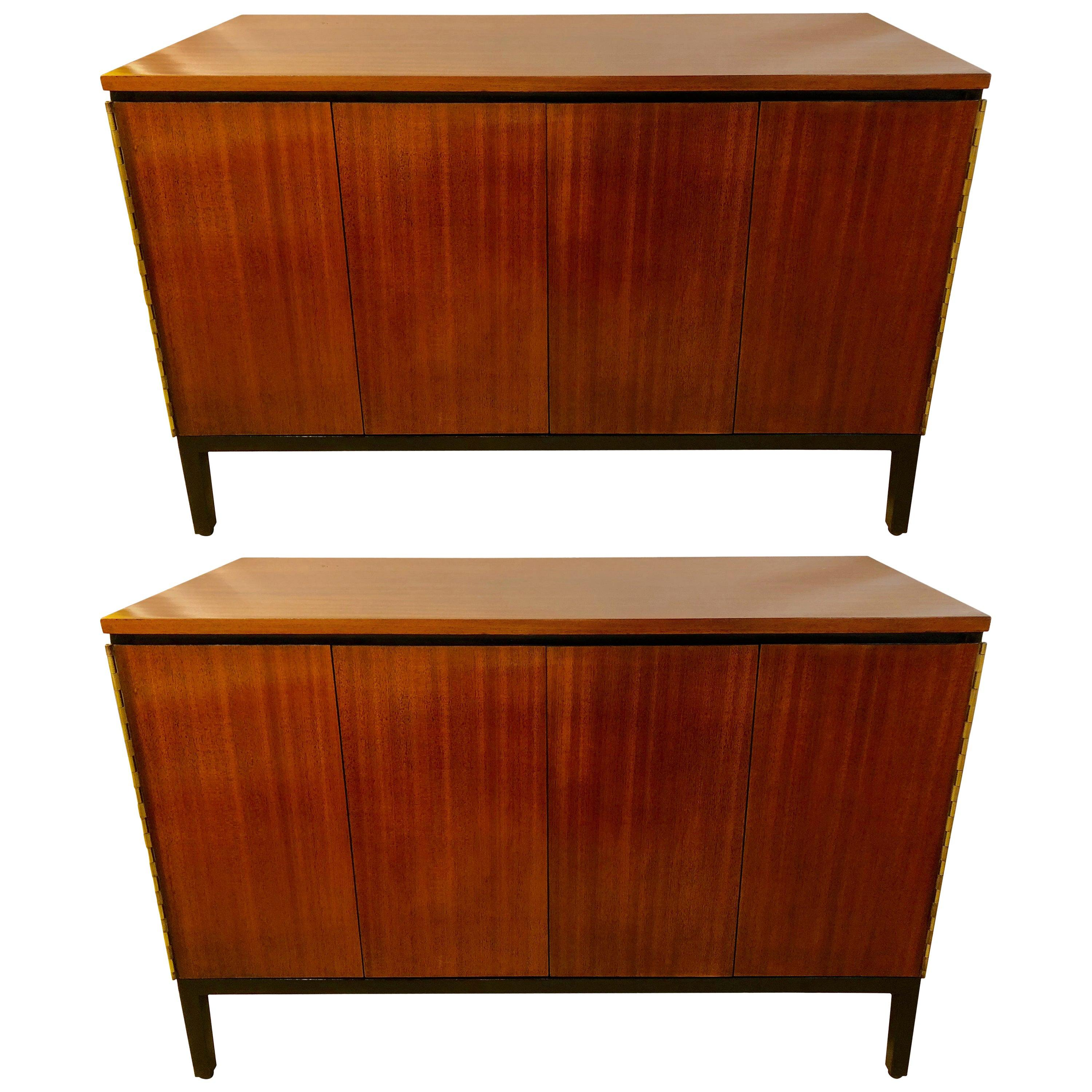 Pair of Mid-Century Modern Paul McCobb for Calvin Chests or Nightstands Ebonized
