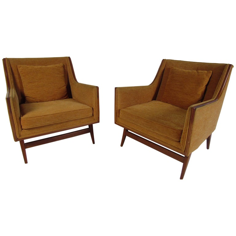 Pair of Mid-Century Modern Paul McCobb Lounge Chairs For Sale