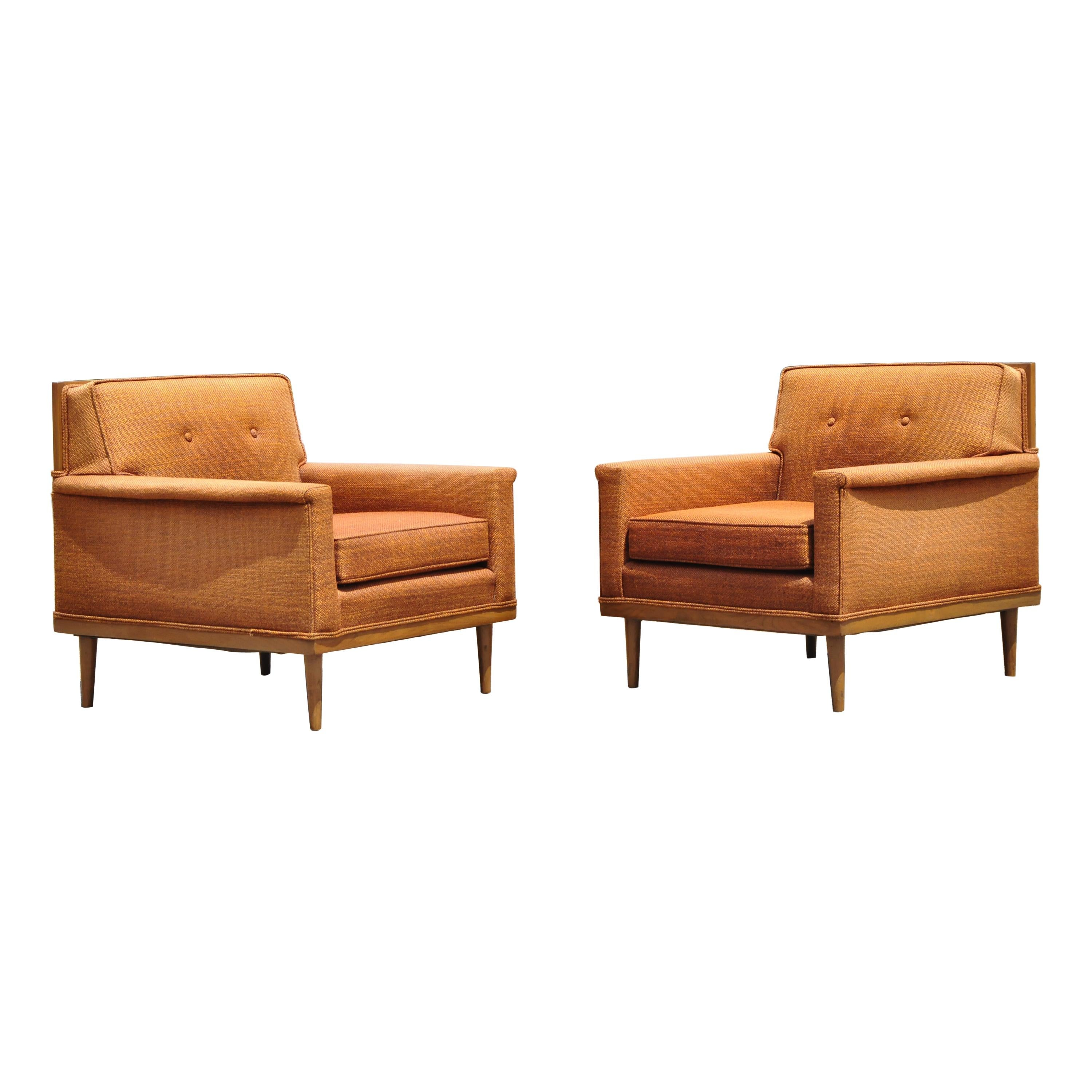 Pair of Mid-Century Modern Paul McCobb Style Club Lounge Chairs by J.B. Sciver
