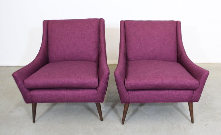 Unknown Pair of Mid-Century Modern Paul McCobb Style Lounge Chairs For Sale
