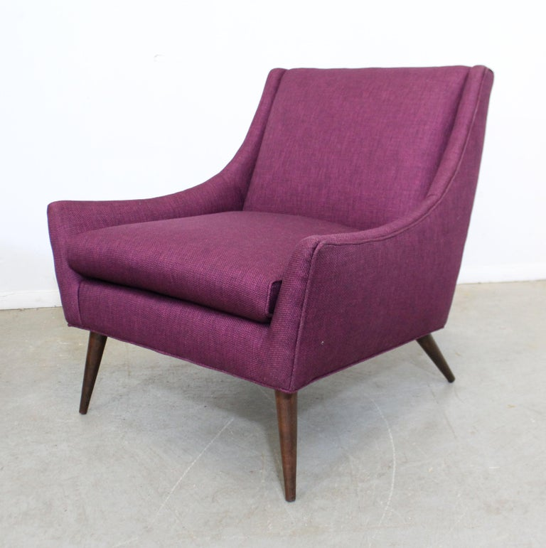 Upholstery Pair of Mid-Century Modern Paul McCobb Style Lounge Chairs For Sale