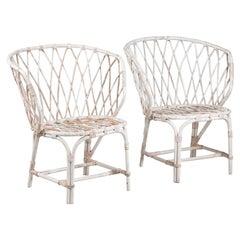 Pair of Mid-Century Modern Rattan Chairs by Maija Heikinheimo for Artek, Finland