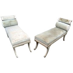 Pair of Mid-Century Modern Regency Style Benches