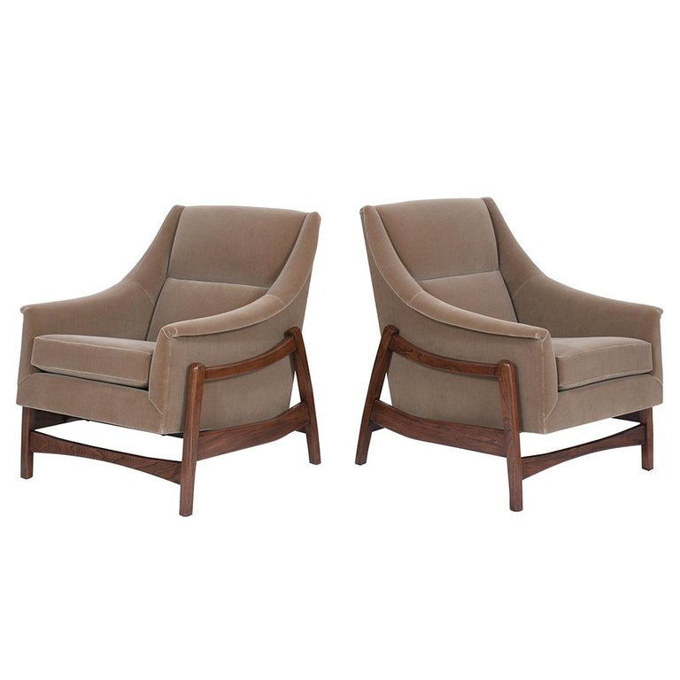 Mid-20th Century Pair of Mid-Century Modern Rocking Chairs For Sale