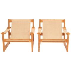 Pair of Mid-Century Modern Scandinavian Lounge Chairs by Yngve Ekström