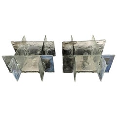 Pair of Mid-Century Modern Sconces by Carlo Nason for Mazzega in Murano Glass