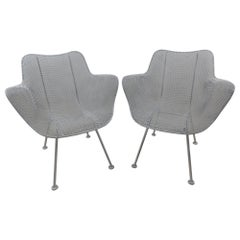 Pair of Mid-Century Modern Sculptural Armchairs by Russell Woodard, circa 1955