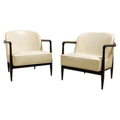 Pair of Mid-Century Modern Sculptural Lounge Chairs by Baker